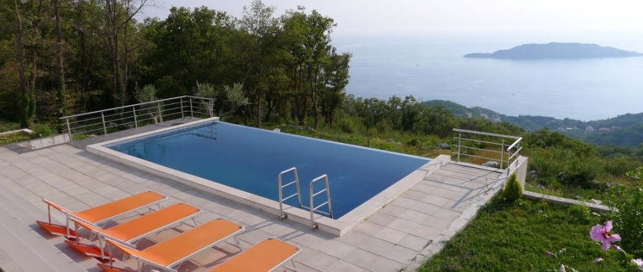 Modern villa with view over Budva Bay