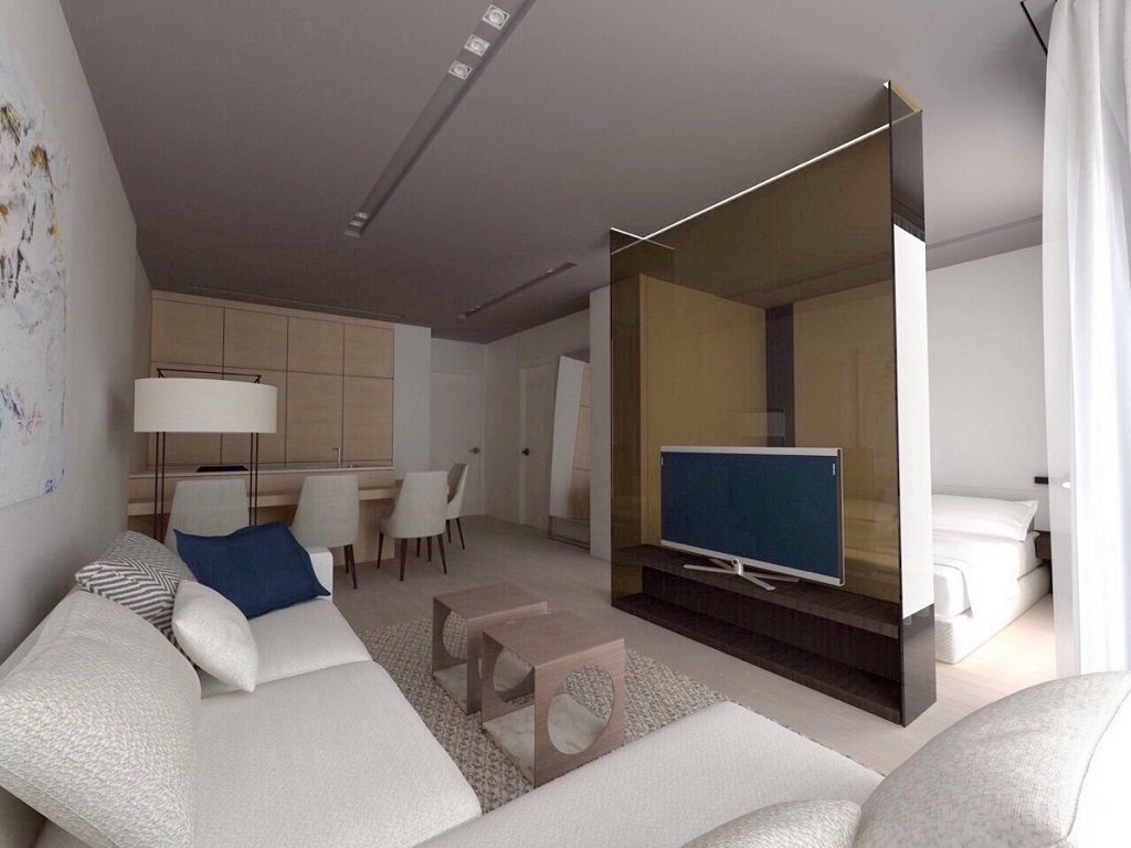 Frontline apartment located in new apert hotel