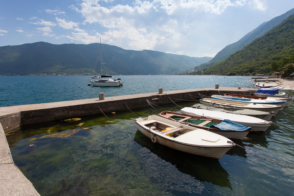 Renovated stone house for hotel on Kotor Bay shore