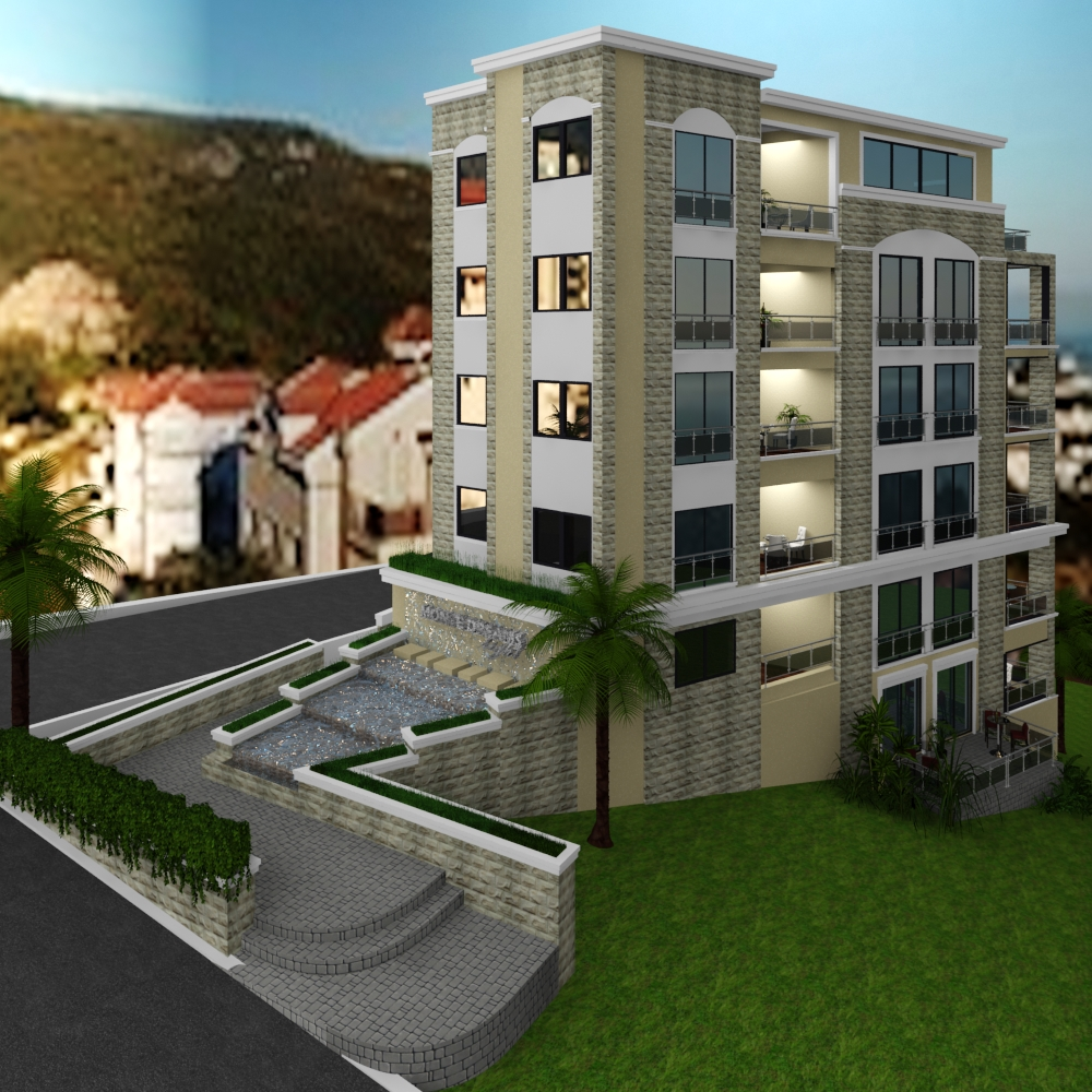 Two-bedroom apartment in new building in Becici