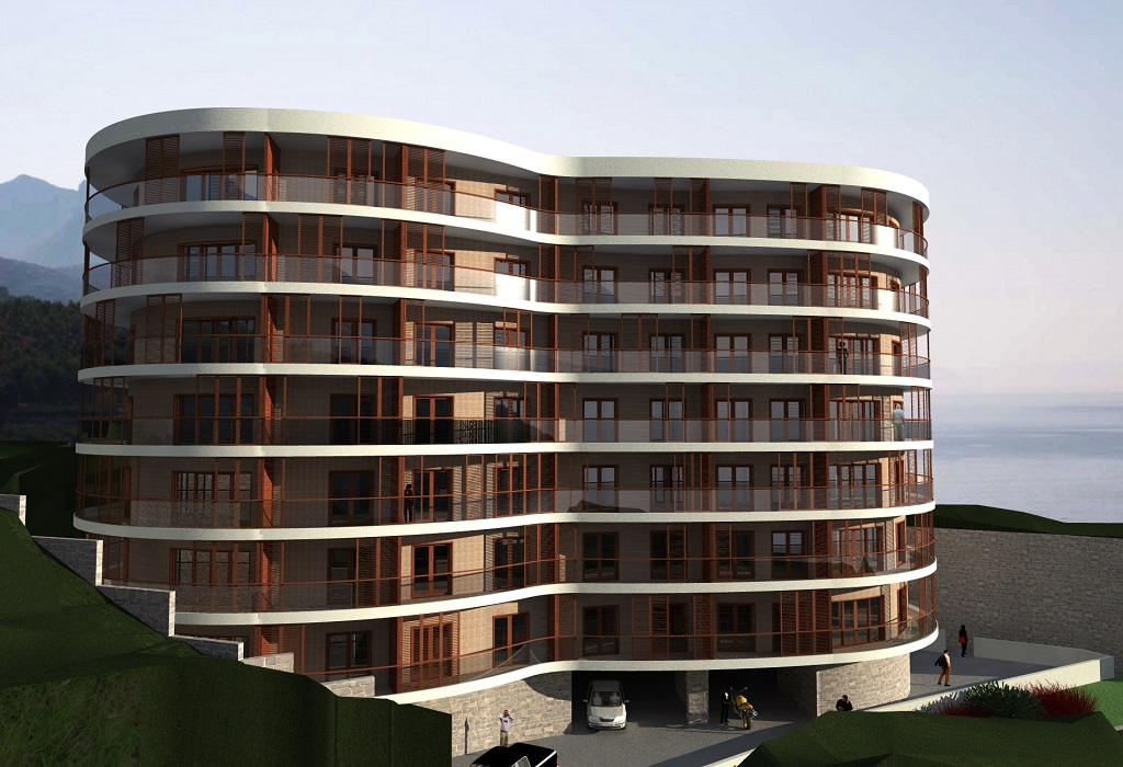 One-bedroom apartment in new residential building in Becici