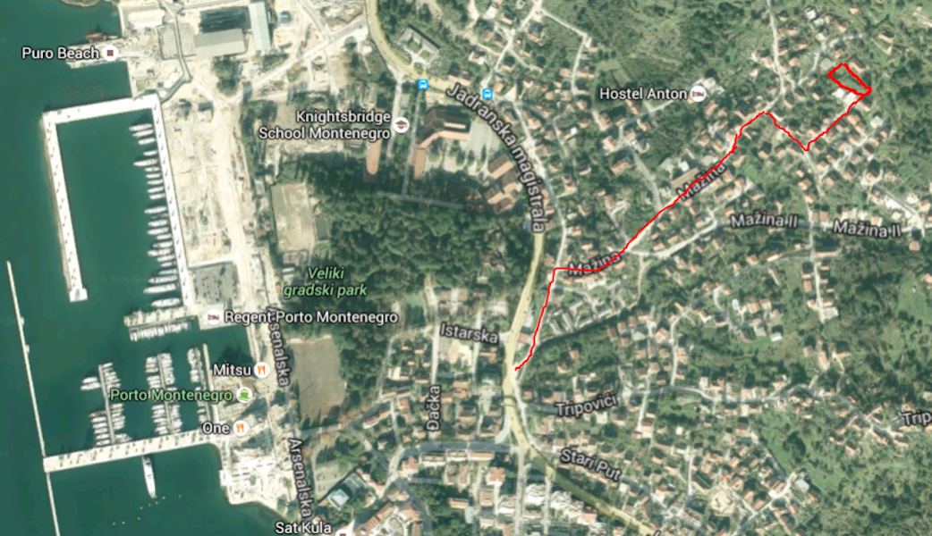 Urbanized land plot in Tivat