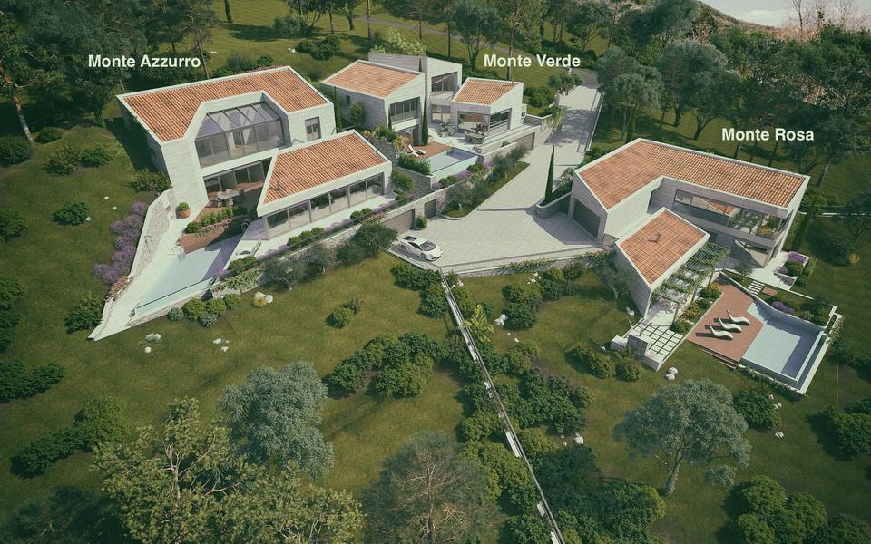 Luxury villa in a club community in Kotor Bay