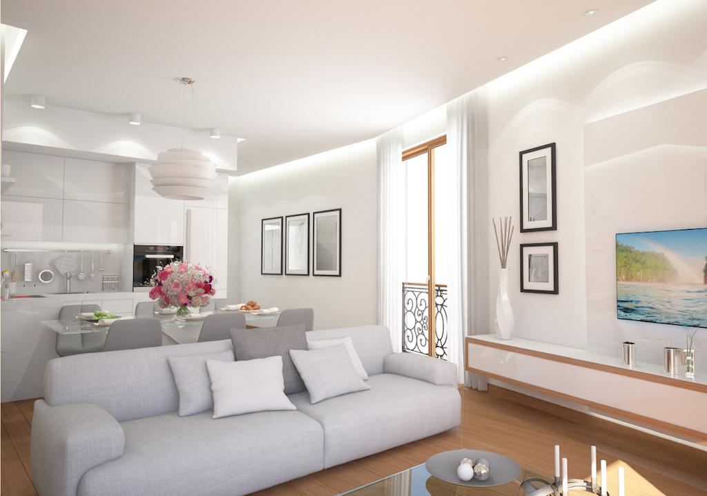 Apartment in the new condo building in Bečići