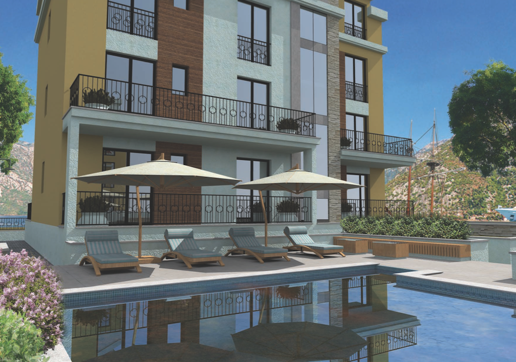 Apartment in the new building near the beach in Tivat