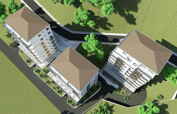 Two-bedroom apartment in the new condo complex in Budva
