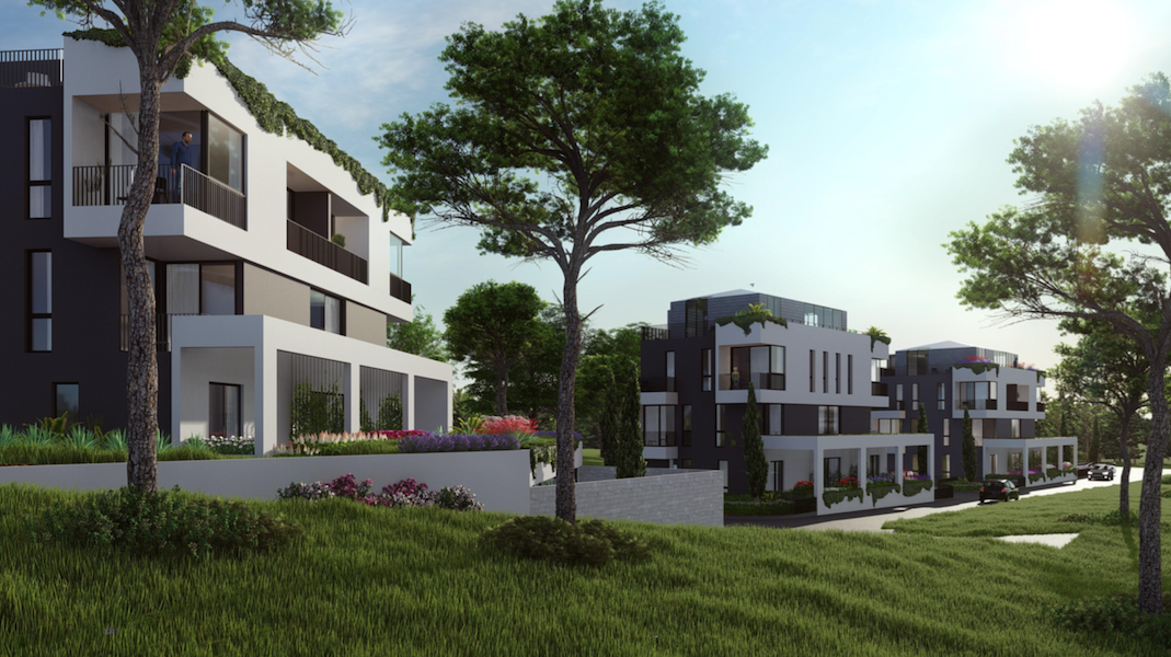 Spacious apartment in the new residential complex in Tivat