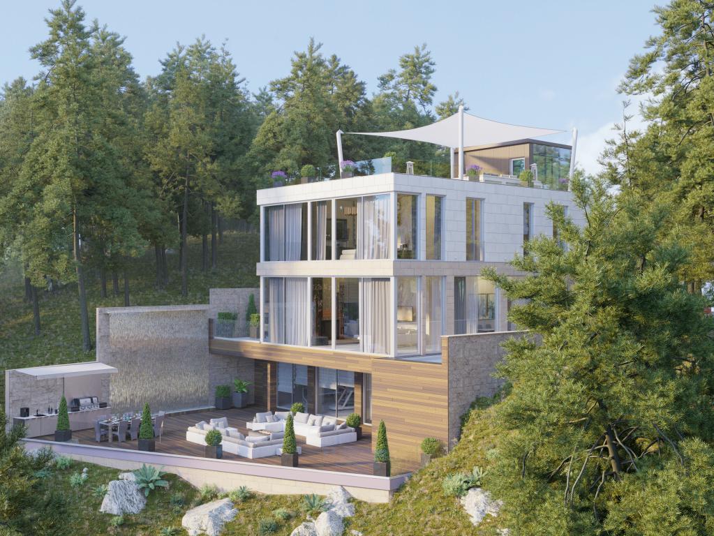 New modern luxury villa above Sveti Stefan