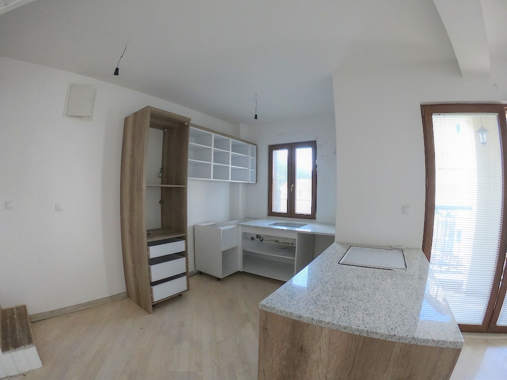 Duplex apartment with private yard in the new building in Budva