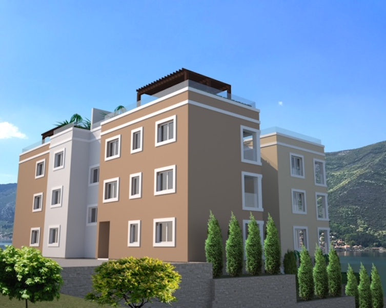 One-bedroom apartment in the new residential complex in Dobrota