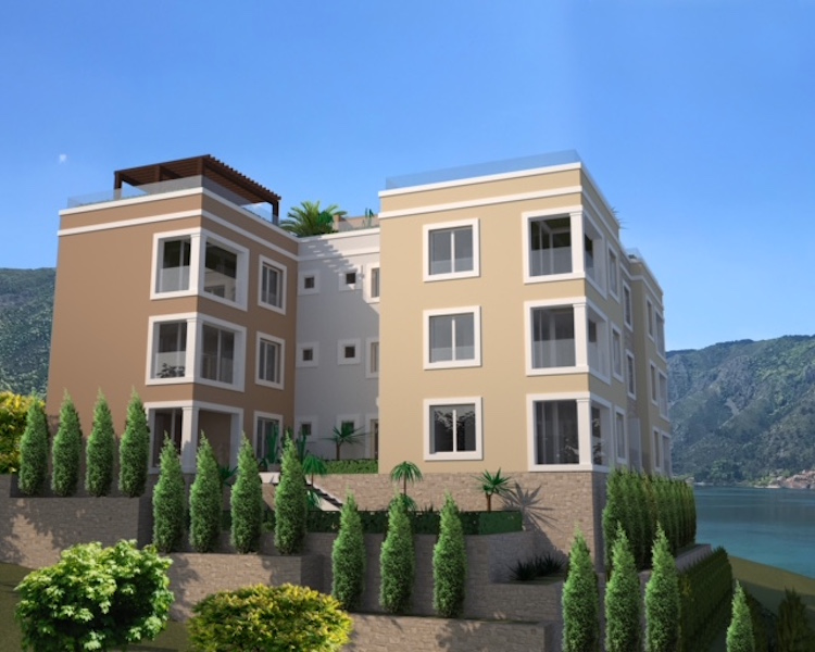 Two-bedroom apartment in the new residential complex in Dobrota