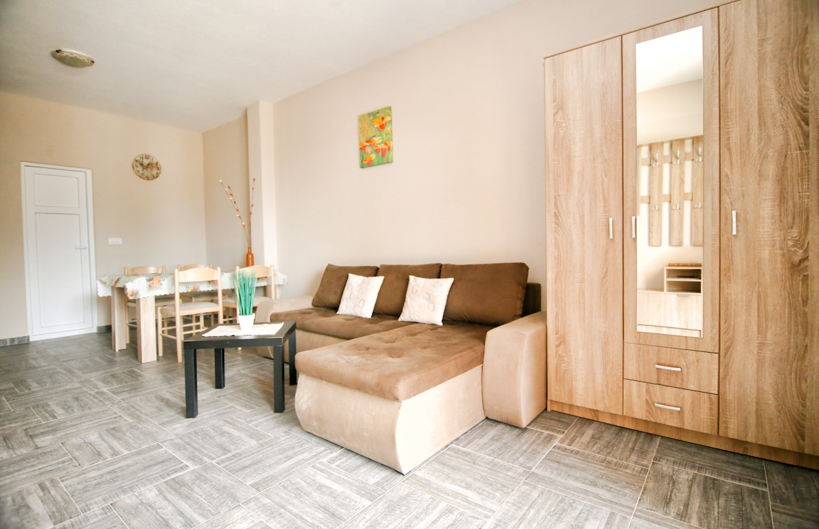 Two studio apartments in the new building in Tivat