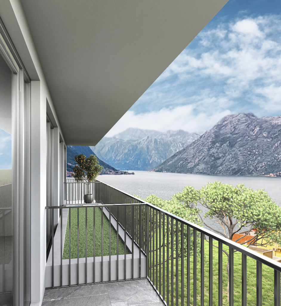 Apartment in the new residential development overlooking the Bay of Kotor