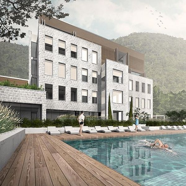 Apartment in the new luxury residential building in Tivat