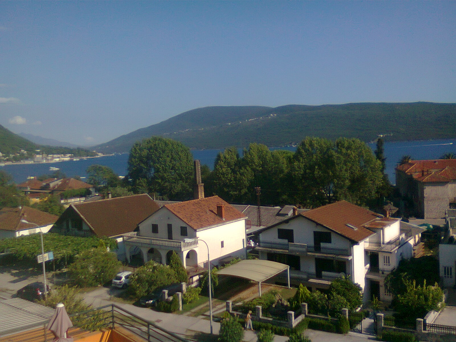 The apartment with view of the Kotor Bay