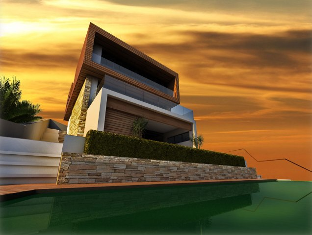 Waterscape land plot with villa project