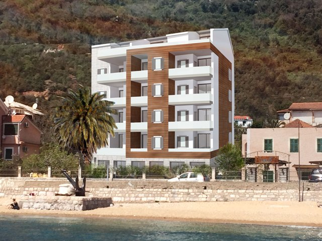 Apartment in modern building on the Kotor Bay coast
