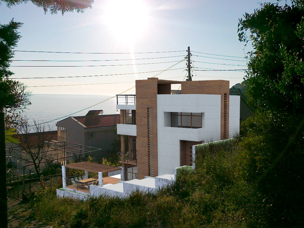 The plot with villa project only 50 m to the sea